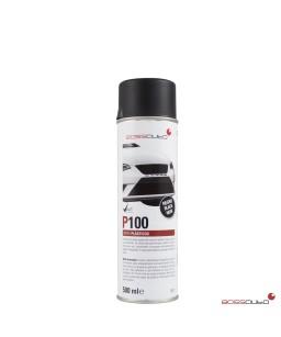 P100 Negro Spray especial plásticos 500 ml