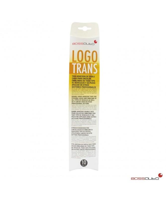 LOGO TRANS tira adhesiva doble cara 30 cm x 5 cm (10 tiras)