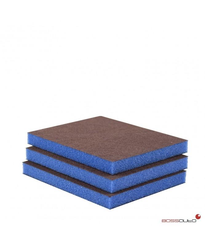 Esponja abrasiva 2 caras - FINE (50 uds.) Azul oscuro