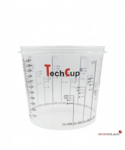 Vaso de mezcla reutilizable y calibrado TechCup 1400 ml.