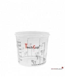 Vaso de mezcla reutilizable y calibrado TechCup 385 ml.