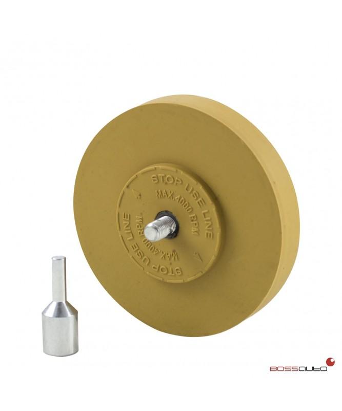 Disco de caucho quita adhesivos con soporte adaptador